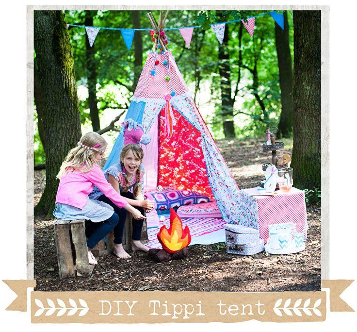 DIY - tippi - tent - teepee - tippitent - patroon - gratis - craftgarden