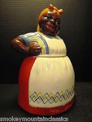 ANTIQUE VINTAGE AUNT JEMIMA MAMMY BLACK AMERICANA BRAYTON LAGUNA COOKIE JAR