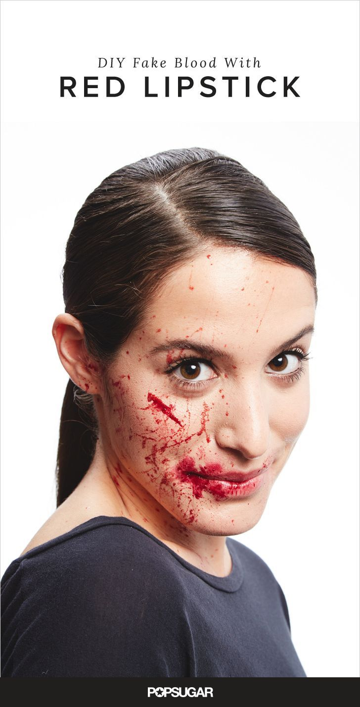 You could go to your local Halloween superstore and buy bottles of liquid blood, or you could use things already in your makeup kit for DIY gore that's free.