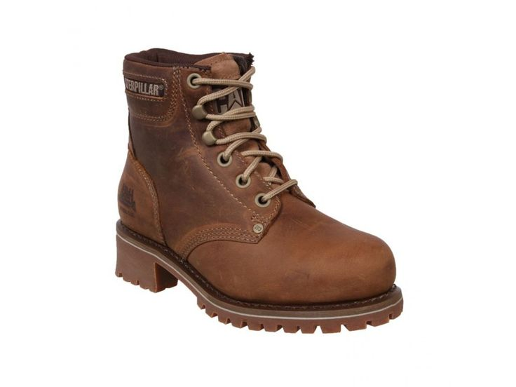 WOMENS-CATERPILLAR-CAT-LOGGER-LEATHER-STEEL-TOE-CAP-SAFETY-WORK-BOOTS-SIZE-3-8 More