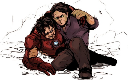 All systems go, sun hasn't died / Deep in my bones, straight from inside / I'm waking up - Radioactive, by Imagine Dragons.  by crimson-sun #sciencebros #ironman #hulk