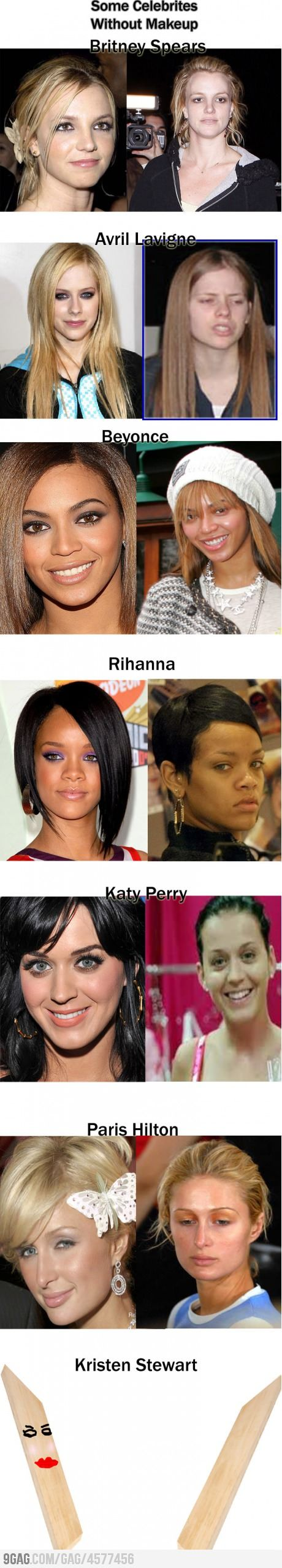 Some Celebrities Without Makeup - ahaha I died at the end!