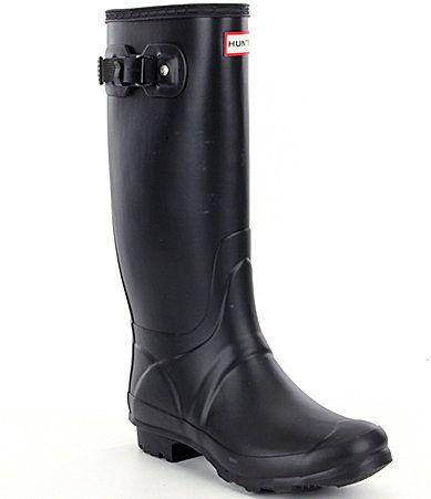 Hunter Original Huntress Matte Wide Calf Rain Boots #Dillards