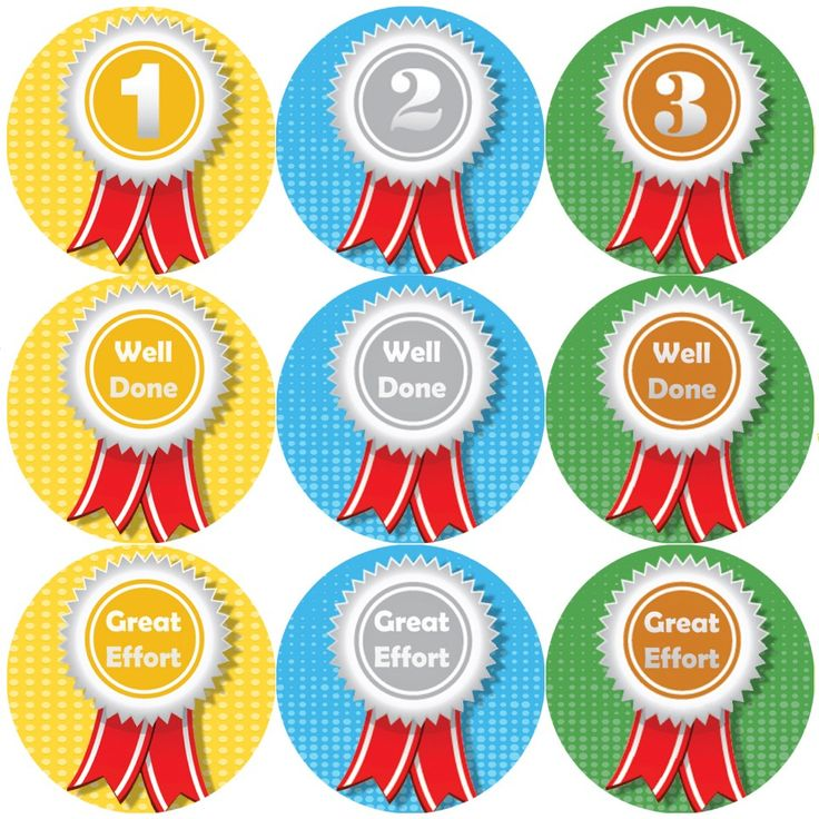 These Sports Day Rosettes themed reward stickers are perfect to make a big impression and to encourage your pupils to take part in sports day. 144 stickers per pack, 30 mm in size.
