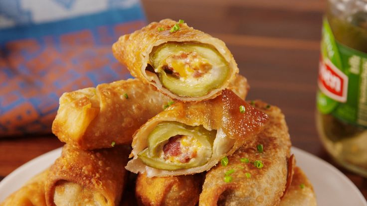 Pickle Egg Rolls wrappers: https://www.amazon.com/gp/product/B01IG52OY0/ref=as_li_tl?ie=UTF8&tag=del-social-20&camp=1789&creative=9325&linkCode=as2&creativeASIN=B01IG52OY0&linkId=4601c728f6c0e4c87b320c1a3957a82b