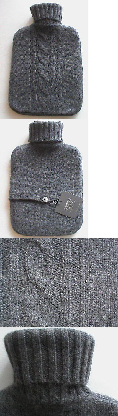 Hot Water Bottles and Covers: Restoration Hardware Nwt Charcoal Gray Hot Water Bottle Cable Knit Cashmere Cov -> BUY IT NOW ONLY: $60.0 on eBay!