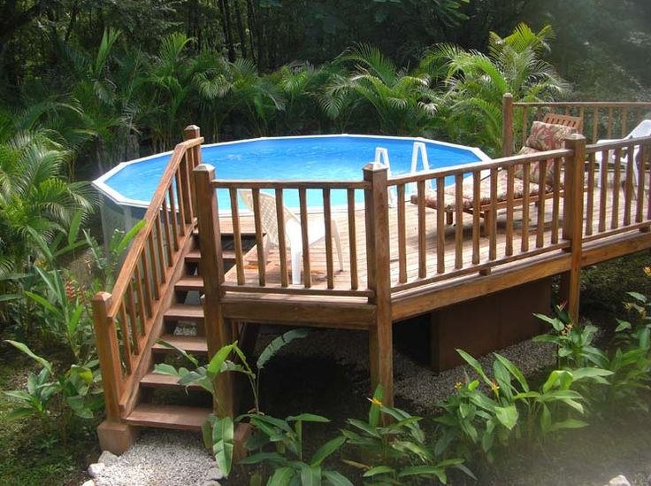 87 best above ground pool paradise images on pinterest for Above ground pool decks home depot