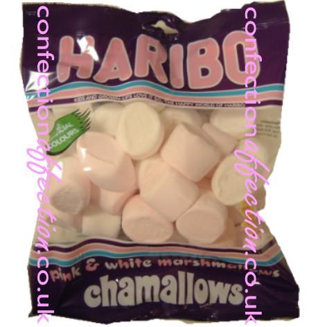 Haribo Chamellows pink and white marshmallows - 1 Syn each