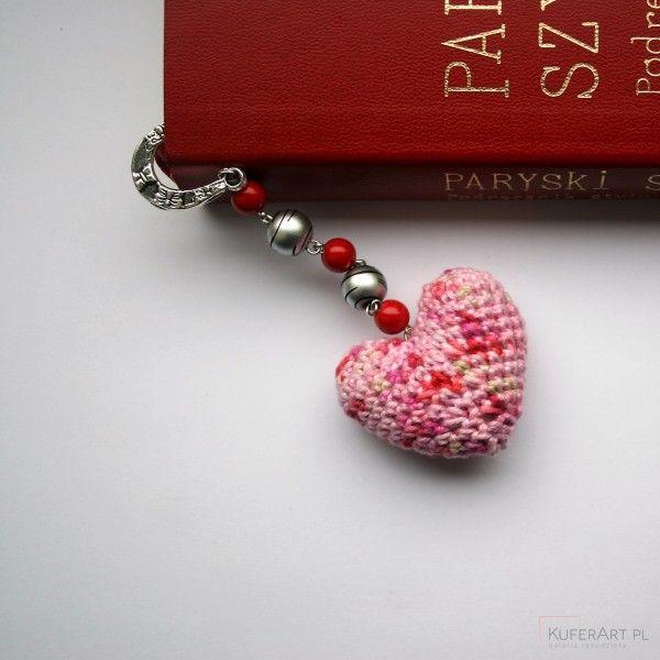 Zakładka do książki z szydełkowym sercem (2001706)