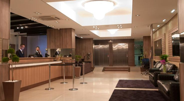 Monaco Convention & Hotel Guarulhos The 4-star Monaco Convention & Hotel is located in downtown Guarulhos, only 7 km from the airport and with easy access to the Presidente Dutra Highway. Bars and restaurants can be easily found in the hotel's surroundings, at Paulo Faccini Avenue.