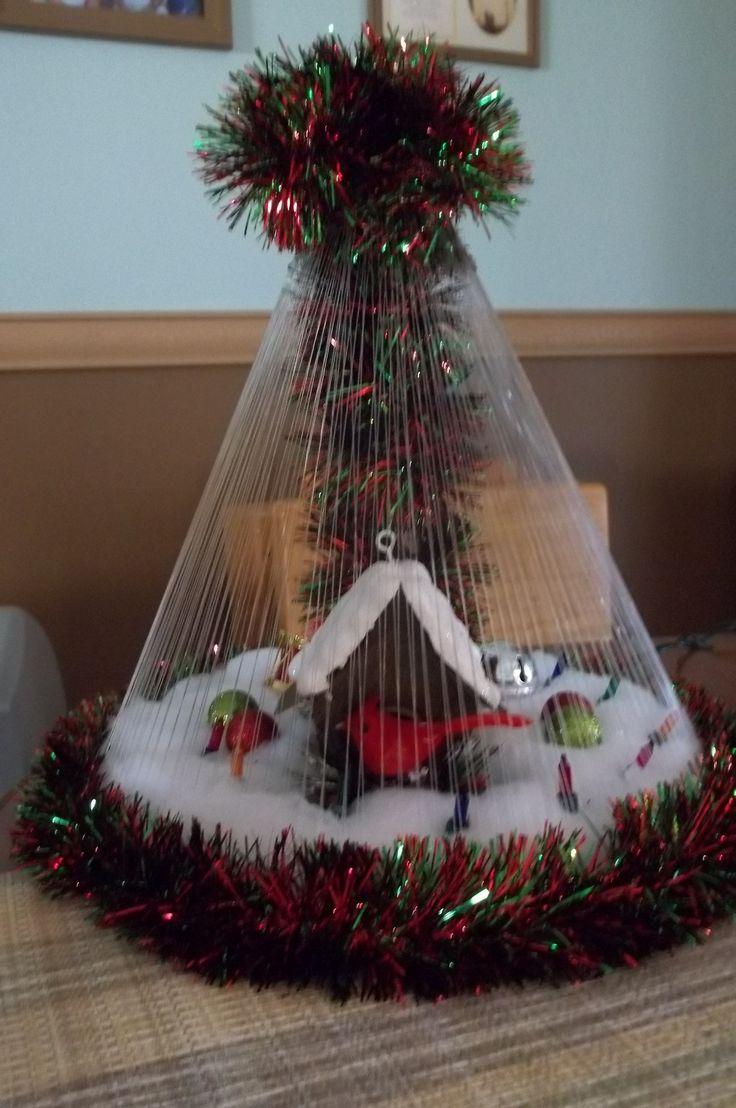 Handmade Tabletop Cardinal Birdhouse Christmas Quot Tree Quot See