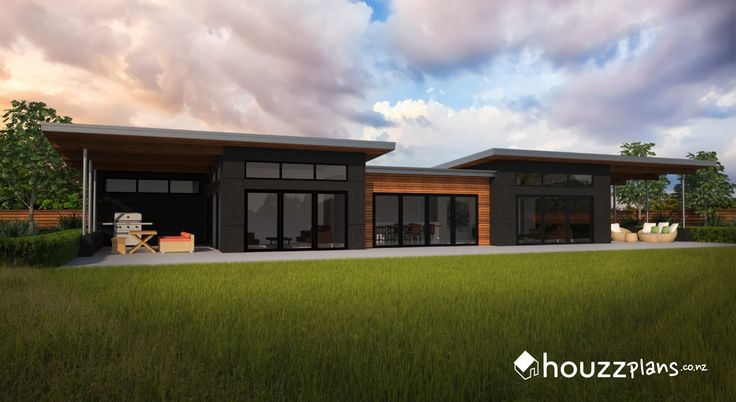 Ashby - Modern Contemporary House Plan .... Browse all house plans here: www.houzzplans.co.nz