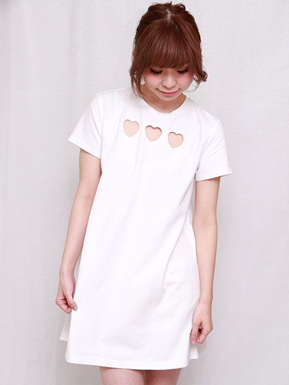 Heart t-shirts one-piece