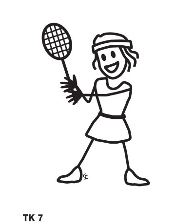 Funky Family Stickers tennis girl