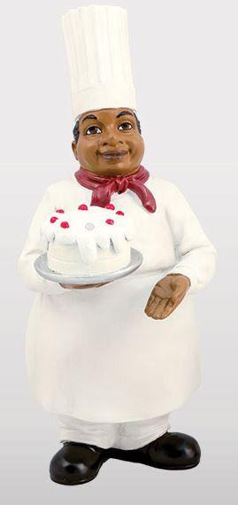 Chef With Cake Kitchen Figurine Cakes Bistro Kitchen
