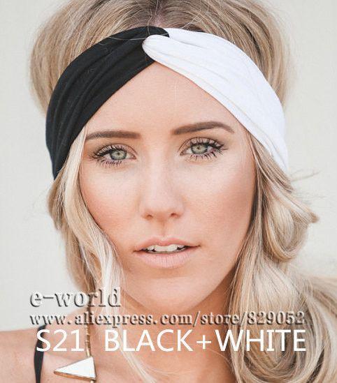 Новый 19 цвета женщины стретч поворот повязка на голову тюрбан спорт йога обернуть голову бандана Turbante аксессуары для волос бесплатная доставка A0399 купить на AliExpress