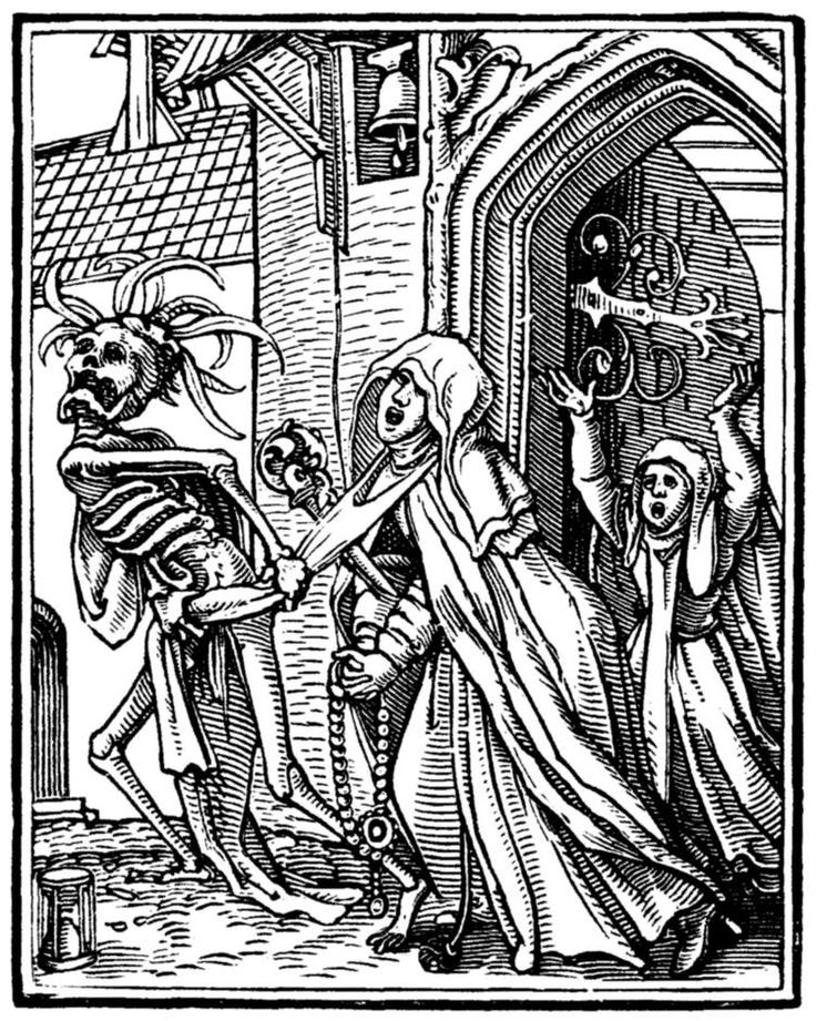 Image result for woodcut of death