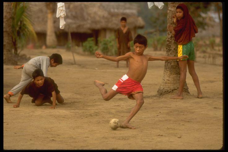 Bending it like UNICEF ambassador, Beckham.