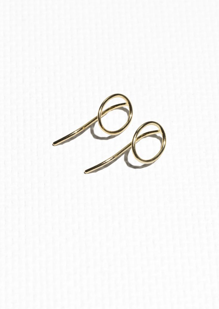 & Other Stories image 1 of Circular Pin Earrings in Gold