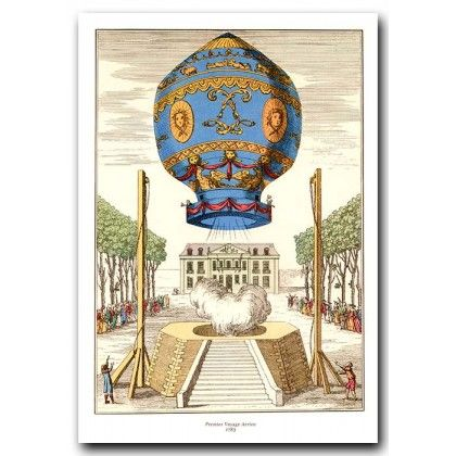 First Voyage into the air in 1783