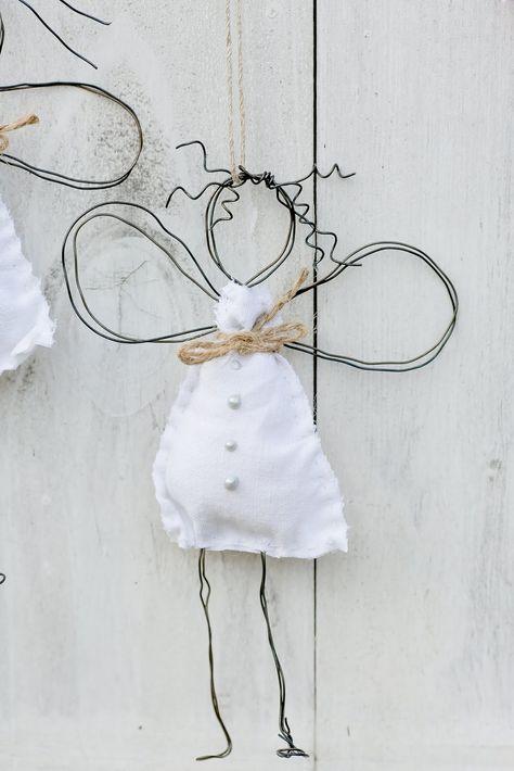 Weihnachtsdeko, DIY, Drahtengel, Pomponetti