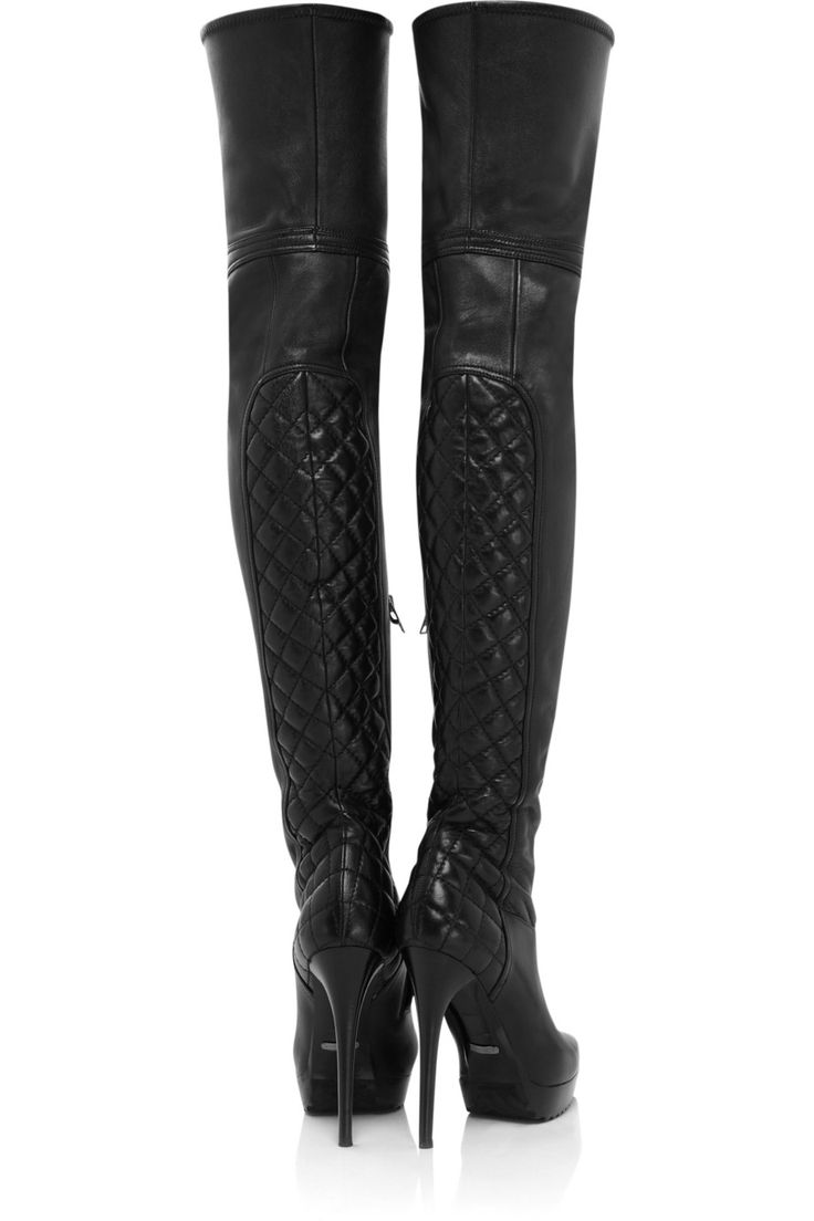 BURBERRY  Nappa leather thigh-high boots