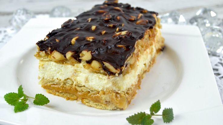 Snickers z mascarpone bez pieczenia - Jak zrobić - [Smakowite Dania]
