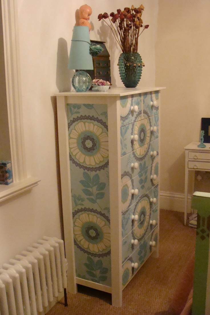 Upcycled drawers in Amy Butler x