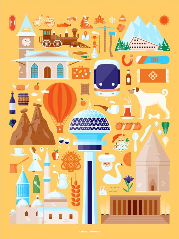 Illustrations for the Turkey Ministry of Culture and tourism3 Illustrations for the Turkish Ministry of Culture and tourism Illustration inspiration graphic design