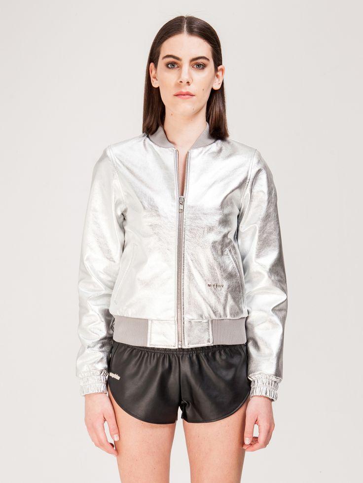 MISBHV , Iceberg Gümüş Bomber Ceket #shopigo#shopigono17#shoponline#womenswear