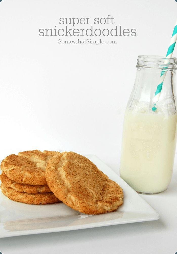 Super Soft Snickerdoodle Cookie Recipe - Somewhat Simple