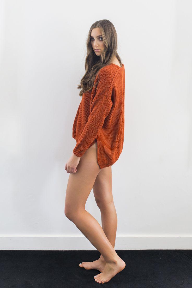 Hunter Rose - Jessi Tangerine Knit Jumper