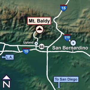 Driving Directions to Mt. Baldy California  im in Upland