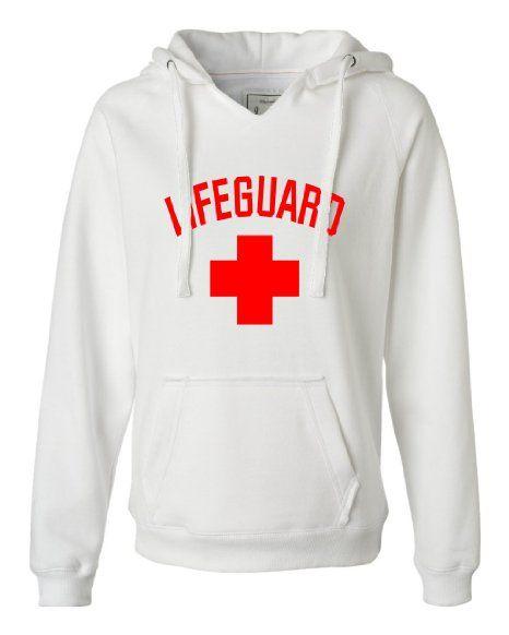 Amazon.com: Womens Lifeguard Deluxe Soft Fashion Hooded Sweatshirt Hoodie: Clothing