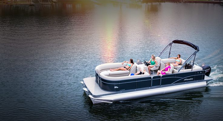 The Manitou Pontoon Boats Aurora model is designed for first time pontoon owners and beginning boaters. Quality, structure, safety and excellent standard features are all a part of the Aurora. Custom options available for those seeking performance and luxury.