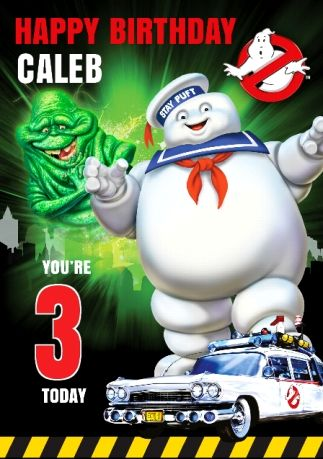 Ghostbusters Birthday Card - You're 11 Today    Funky Pigeon