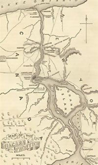 Map of the Niagara Region during the War of 1812.