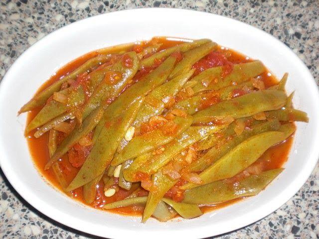 Lekker Turks eten: Snijbonen Gerecht, Taze Fasuye Yemegi