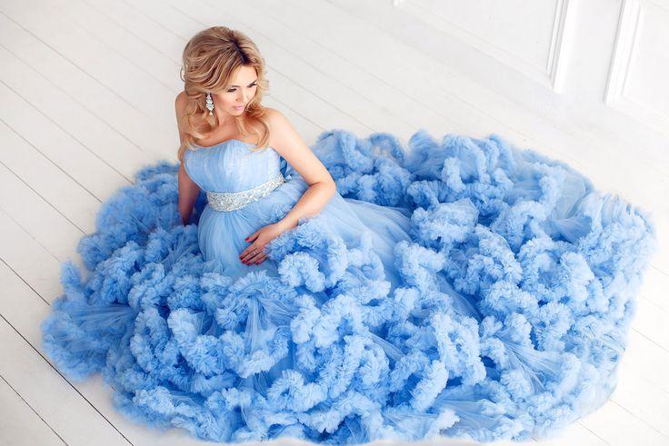 Платье-облако для фотосессии беременности