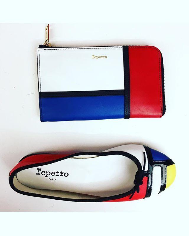 Quand @repettoparis réinterprété l'iconique Mondrian. #repetto #ss17 #bag #shoes #fashion #art #mondrian