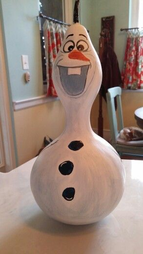 I painted a gourd to look like the frozen snow man, lol.