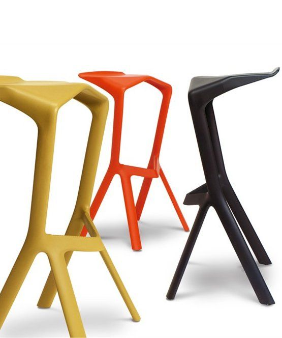 High stackable polypropylene #stool MIURA by Plank Collezioni | #design Konstantin Grcic