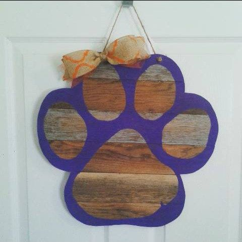 Paw Pallet Door Hanger by SouthernChicBtq on Etsy