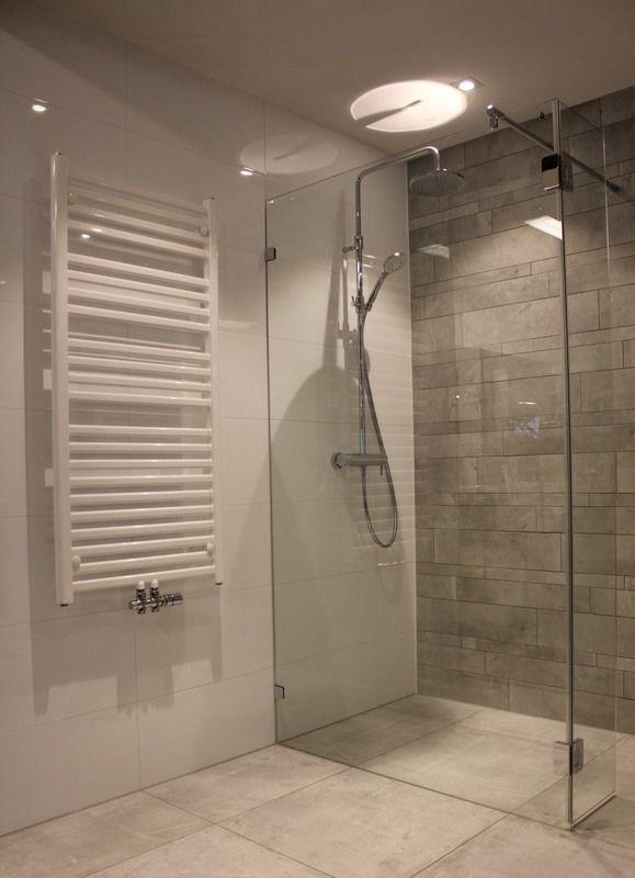 Moderne betonlook badkamer