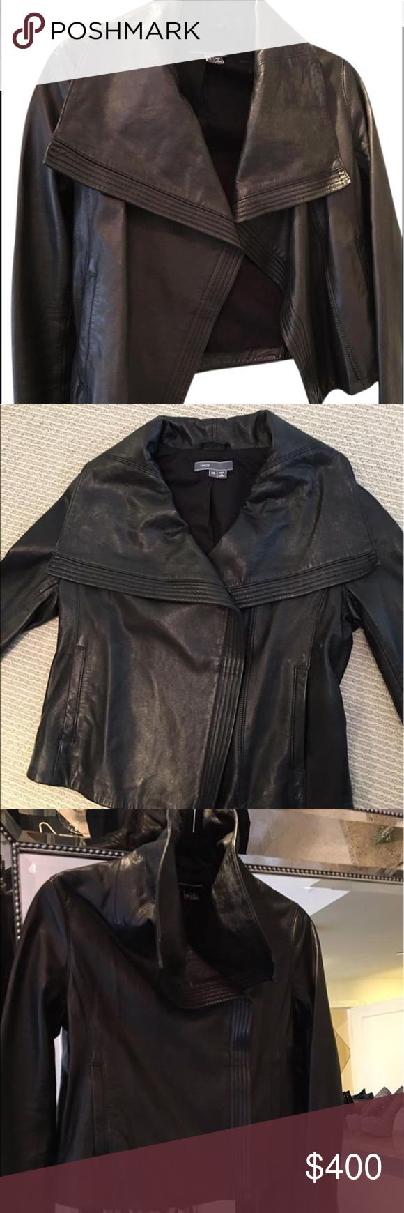 Vince 100% Lambskin Leather Jacket Barely worn Size 2 stunning leather jacket Vince Jackets & Coats