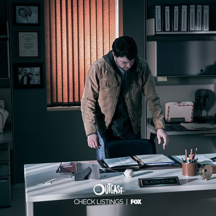 It's not all fights and exorcisms. Even Kyle has to dig through paperwork. Outcast, May 2017