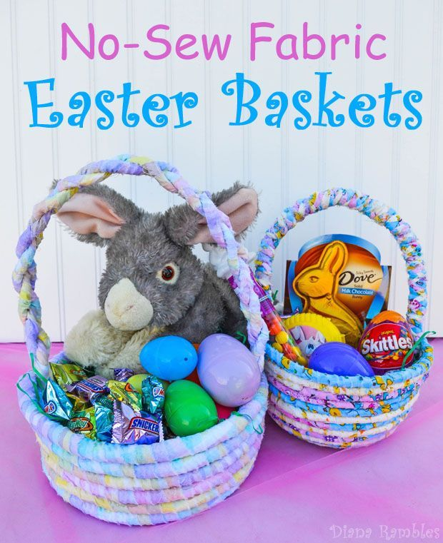 178 best fabric baskets buckets images on pinterest sewing no sew fabric easter basket need a one of a kind easter basket to negle Choice Image