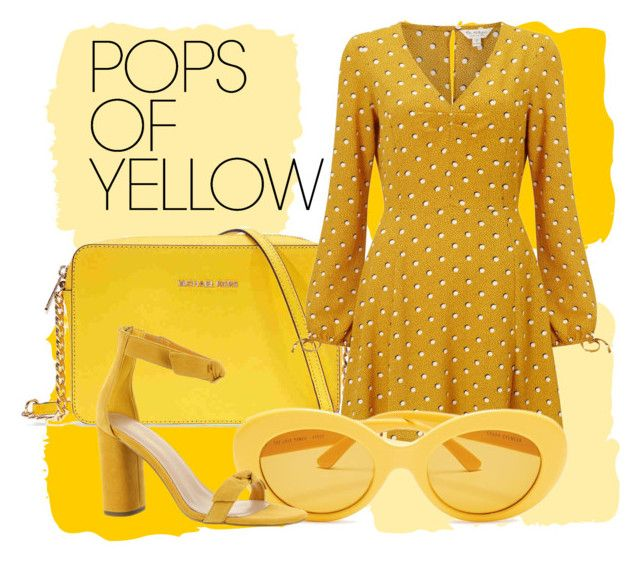 """Yellow Shades"" by liztina ❤ liked on Polyvore featuring Michael Kors, Miss Selfridge, BCBGeneration, PopsOfYellow and NYFWYellow"