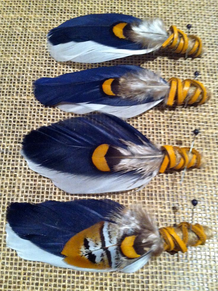 FREE SHIPPING 4 X Eagle Rock Feather Boutonnieres by flowersbythevase on Etsy