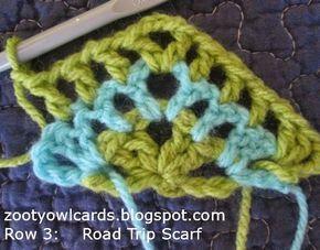 triangle scarf, granny triangle scarf, crochet scarf, road trip scarf